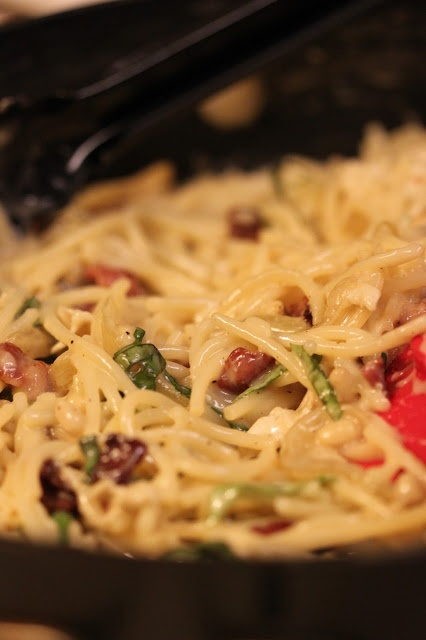 Brie, Bacon and Basil Pasta | Recipes | Pinterest