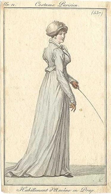 A light blue riding habit. an 12 costume parisien