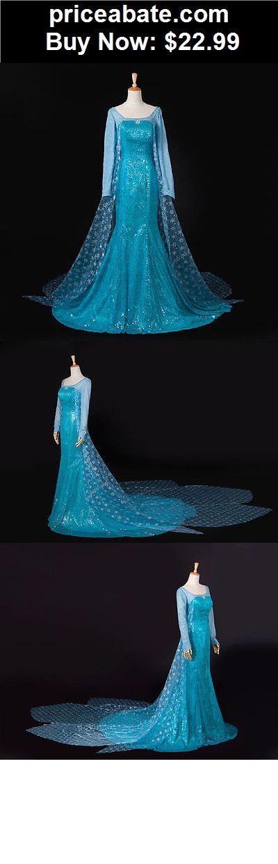 Women-Costumes: Frozen Adult Queen Princess Elsa Halloween Dress Costume Cosplay Party Dress - BUY IT NOW ONLY $22.99                                                                                                                                                                                 More