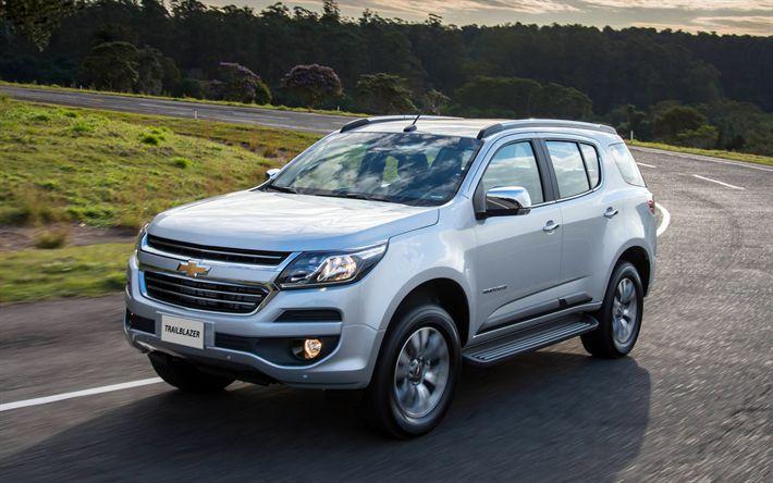 Download wallpapers Chevrolet Trailblazer, 4k, 2018 cars, crossovers, new Trailblazer, Chevrolet
