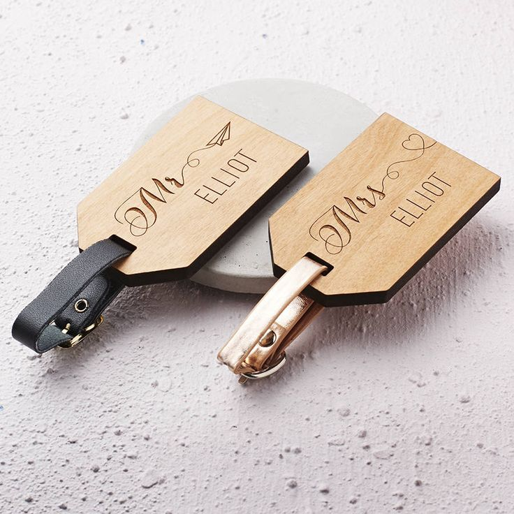 Are You Interested In Our Personalised Wooden Luggage Tags With Honeymoon Wedding Gift