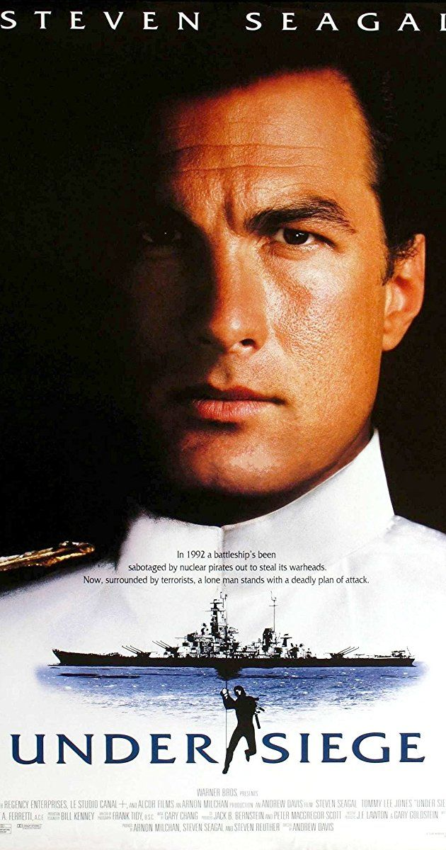 Directed by Andrew Davis.  With Steven Seagal, Gary Busey, Tommy Lee Jones, Erika Eleniak. A Navy cook is the only person who can stop a group of terrorists when they seize control of a U.S. battleship.