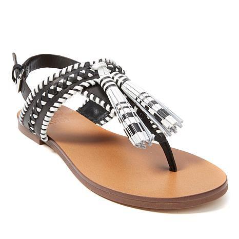 Vince Camuto Rebeka Leather Tassel Thong Sandal