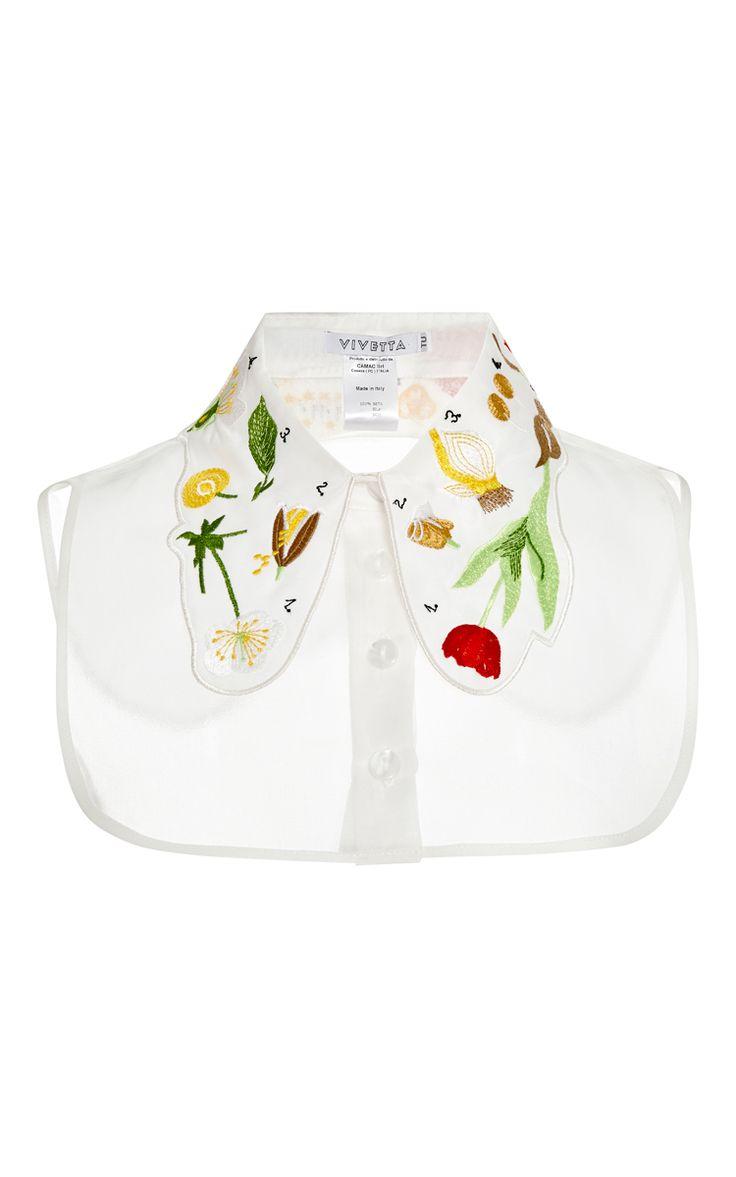 Florita Embroidered Organza Dickie by Vivetta - Moda Operandi
