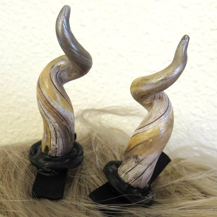 Horns, Polymer Clay Horns, Halloween Costume, Accessories, Renaissance Faire Costume, Cosplay Horns by Claybykim on Etsy