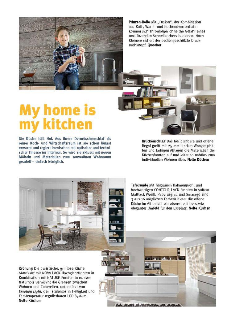 Fabulous My Home is my Kitchen K chenspezial mit Nolte K chen und Quooker Newsletter Pinterest Casa e Cucine