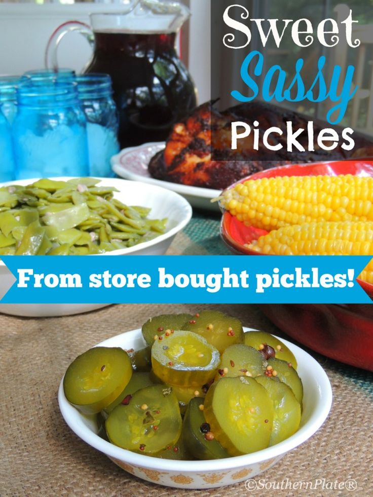 Sweet Sassy Pickles - From Store Bought Pickles!