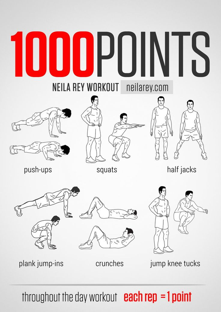 Points throught the day workout works chest