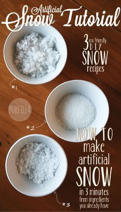 How to Make Artificial Snow : 3 quick and easy eco-friendly 'recipes'