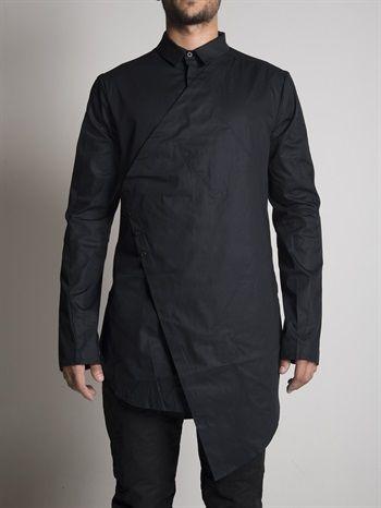 BLACK CELEBRATION - Asymmetric Vested Shirt