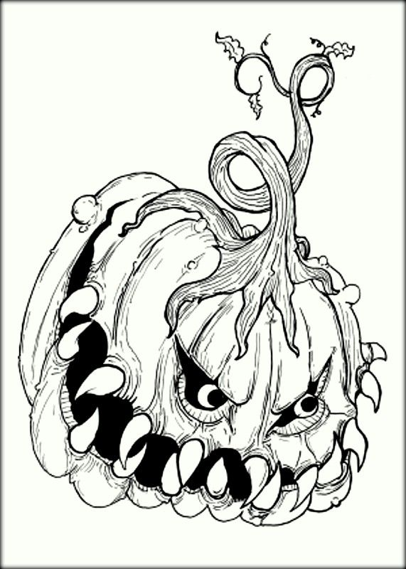 Scary Coloring Pages | Witch coloring pages, Scary ...
