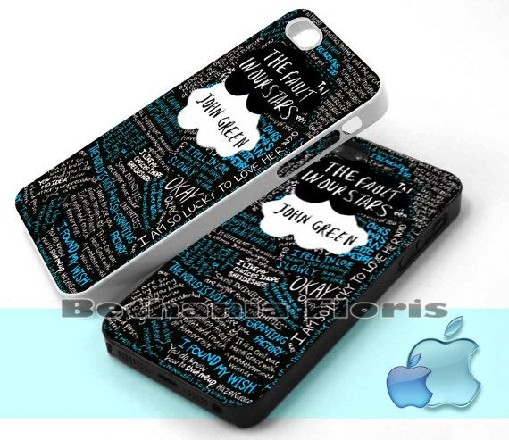 The Fault in Our Stars quote - Print on hardplastic for iPhone 4/4s and 5 case, Samsung Galaxy S3/S4 case.