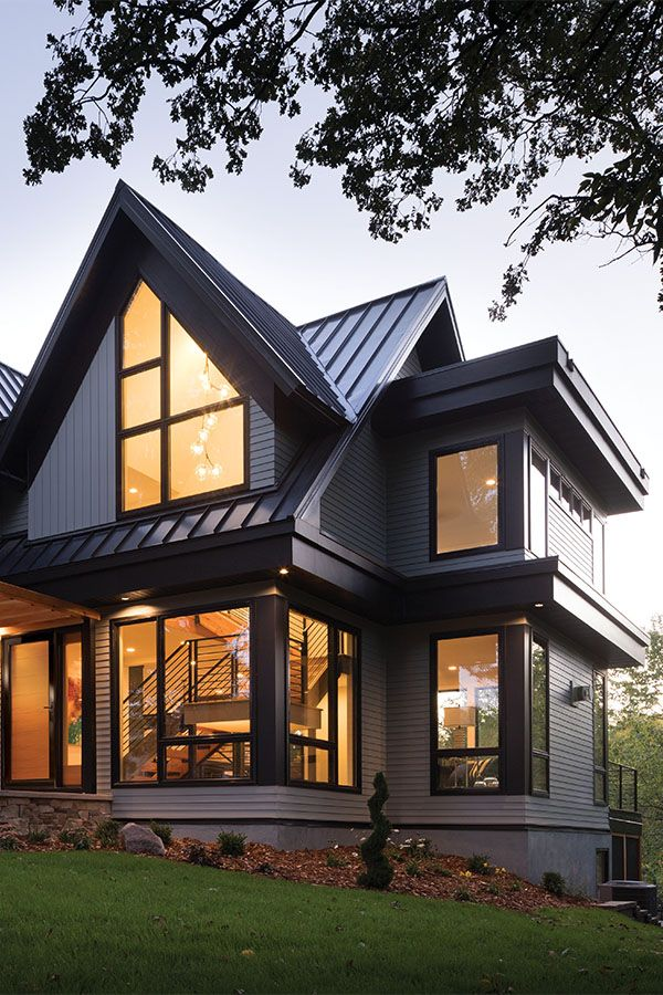 Sustainable Industrial Modern Home With A Black Exterior Black Windows Modern Windows Modern Farmhouse Exterior Black Windows Exterior