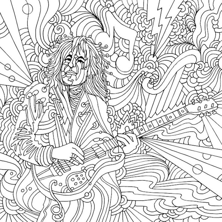Best 330 Music Coloring Pages for Adults ideas on ...