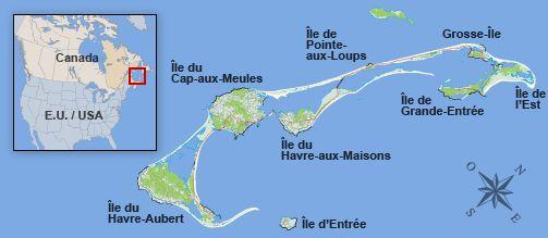 Carte des Îles de la Madeleine