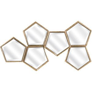 Golden Hive Wall Mirror