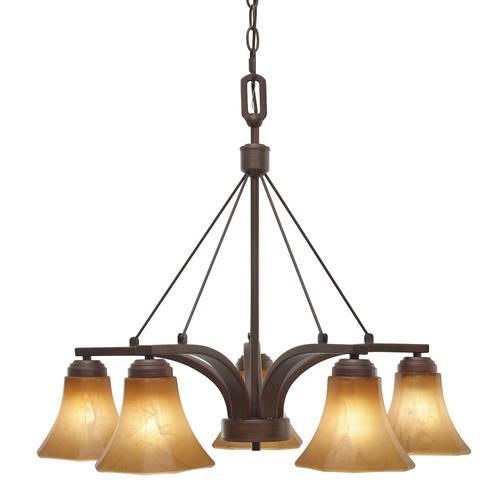 248 Photon 5 Light 225 Rubbed Bronze Incandescent Chandelier With Chiseled Antique Marble Glass Dining Room