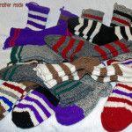 Ladies Wool Vamps (Various colors and stripes)
