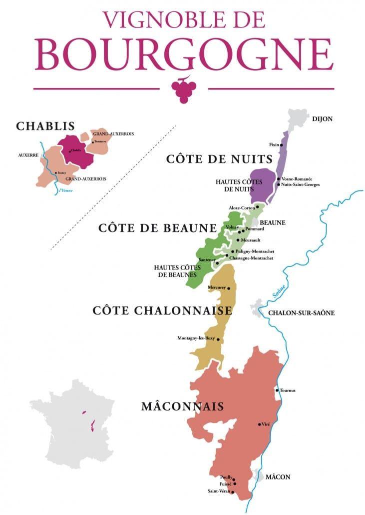Comprendre le vignoble de... Bourgogne | Vignoble ...