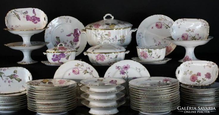 Antik,Múzeális 1880-ból! Francia Limoges porcelán  étkészlet