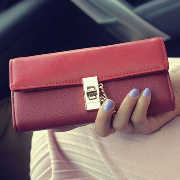 designer wallet sale n2ta  $1570 Trendy Hasp and Tri-Fold Design Wallet For Women