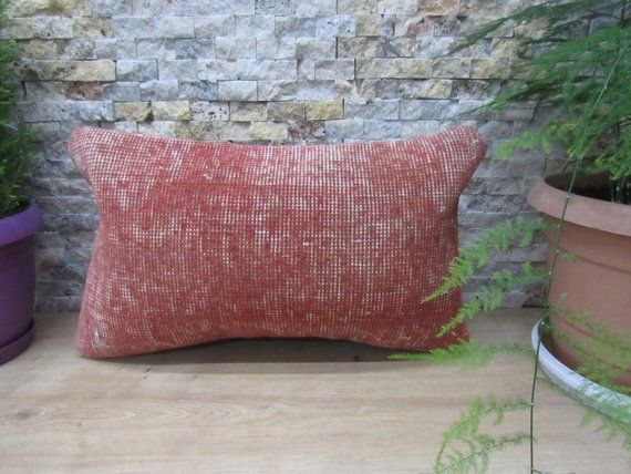 12x20 Rug Pillow Handmade Turkey Pillow Floor Cushion Decorative Bedding Pillow Rug Pillow 12x20 Outdoor Pillow Tribal Bolster Pillow Pillows Floor Cushions Bed Pillows