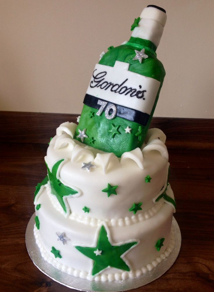 Gordon's Gin bottle cake