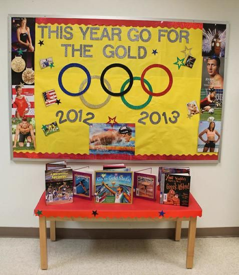 Go For The Gold! - Olympic Themed Back-To-School Board