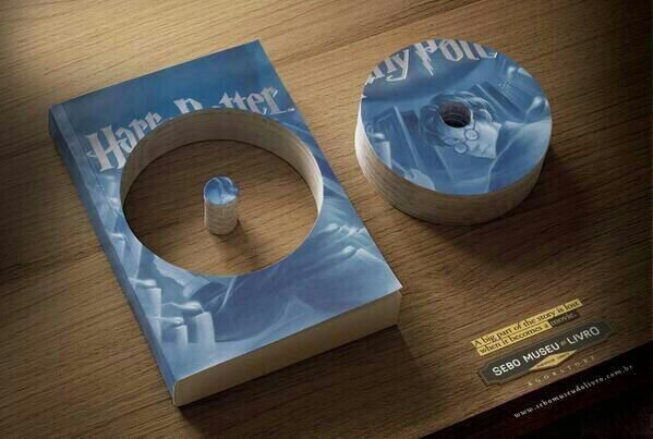 """Brilliant Ads on Twitter: """"Sebo Museu Do Livro Bookstore: """"A big part of the story is lost when it becomes a movie."""""""