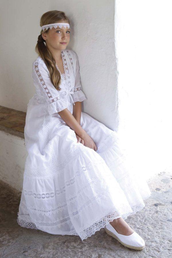 Resultado de imagen para vestido sencillo para primera comunion