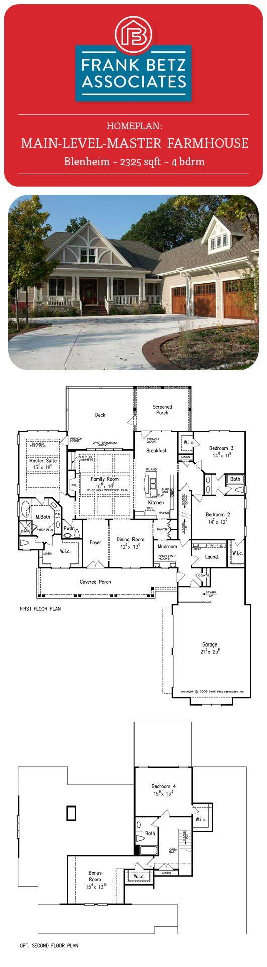 Blenheim 2325 sqft 4 bdrm farmhouse main level master