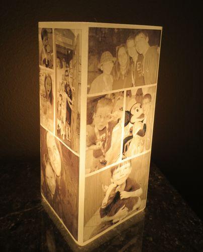 Photo collage lamp light