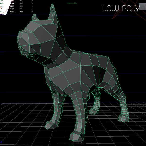 Low Poly Bull Terrier