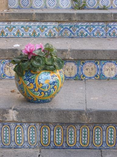 Tiled steps of Caltagirone, Sicily