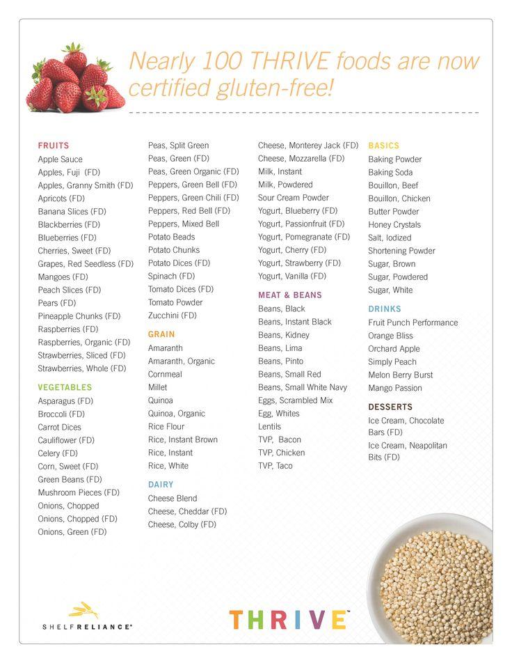 Gluten Free Food List 98 Certified Gluten Free Foods
