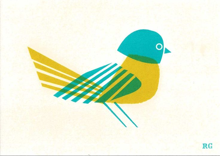 screen printed postcard - love the simplicity and the overlapping colors