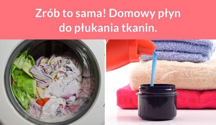 Zrób to sama! Domowy płyn do płukania tkanin.