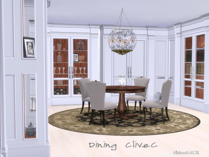 Contemporary Dining Room Inspired By Clive Christian London Found In TSR  Category U0027Sims 4 Dining