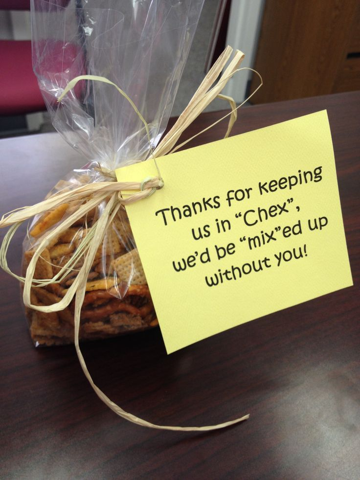 "Volunteer Appreciation! Thanks for keeping us in ""chex,"" we'd be ""mix""ed up without you!"