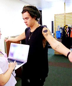 Can you not with the sleeveless shimmying and the laughing and the jiggling? | 28 Times Harry Styles Needed To Not
