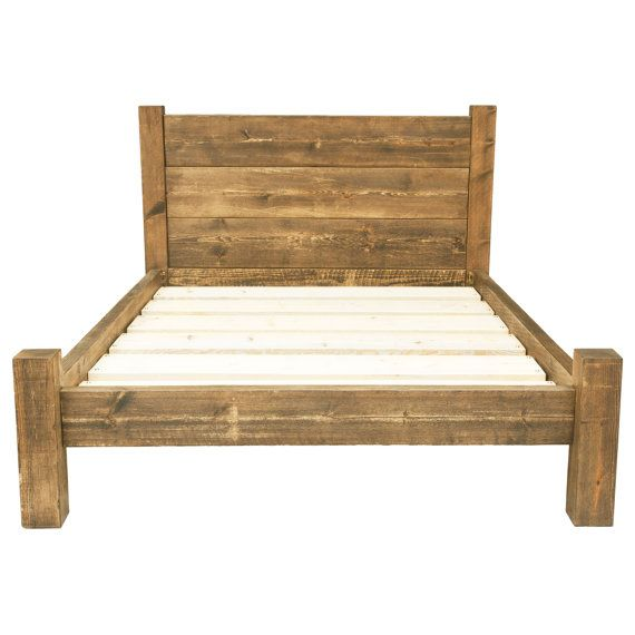 Solid Wooden Chunky Bed Frame in a Choice by FunkyChunkyFurniture