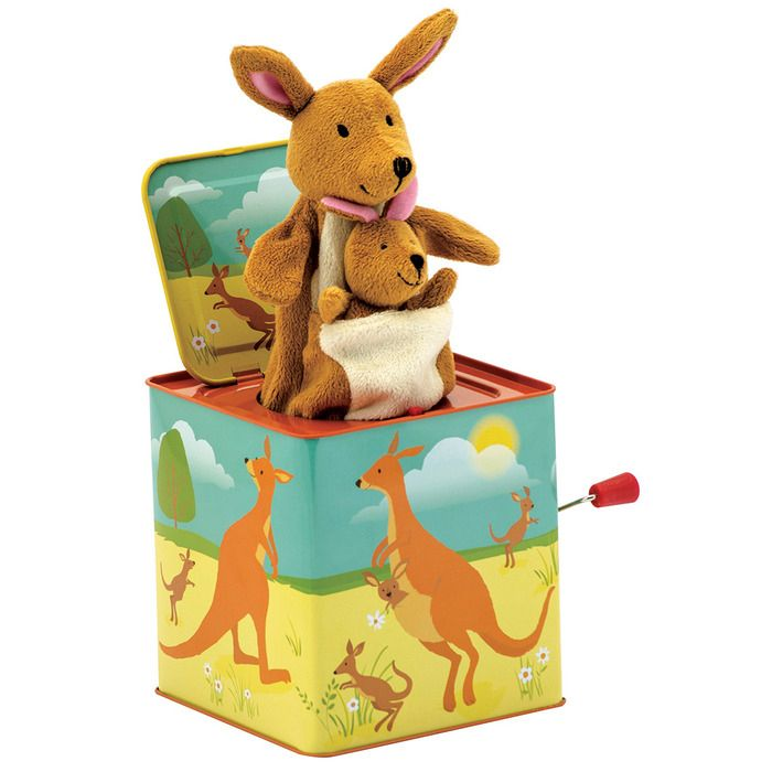 Kangaroo Jack in the Box  plus the baby kangaroo is a finger puppet.