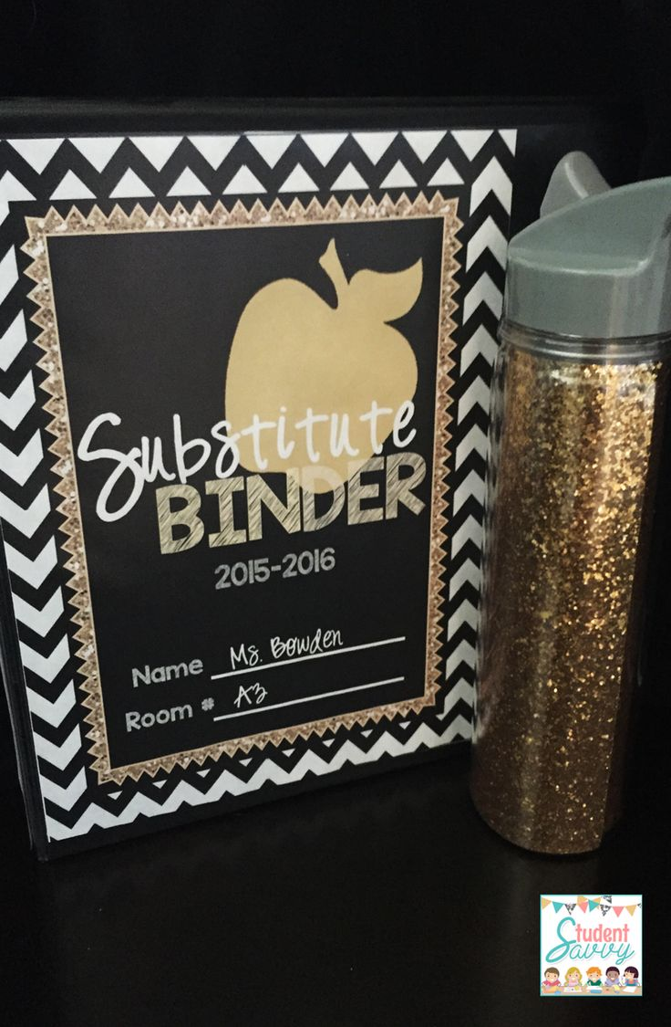 SUBSTITUTE BINDER Tips & FREEBIES - Editable Binder for your Substitute - A g reat resource for substitutes and back to school!