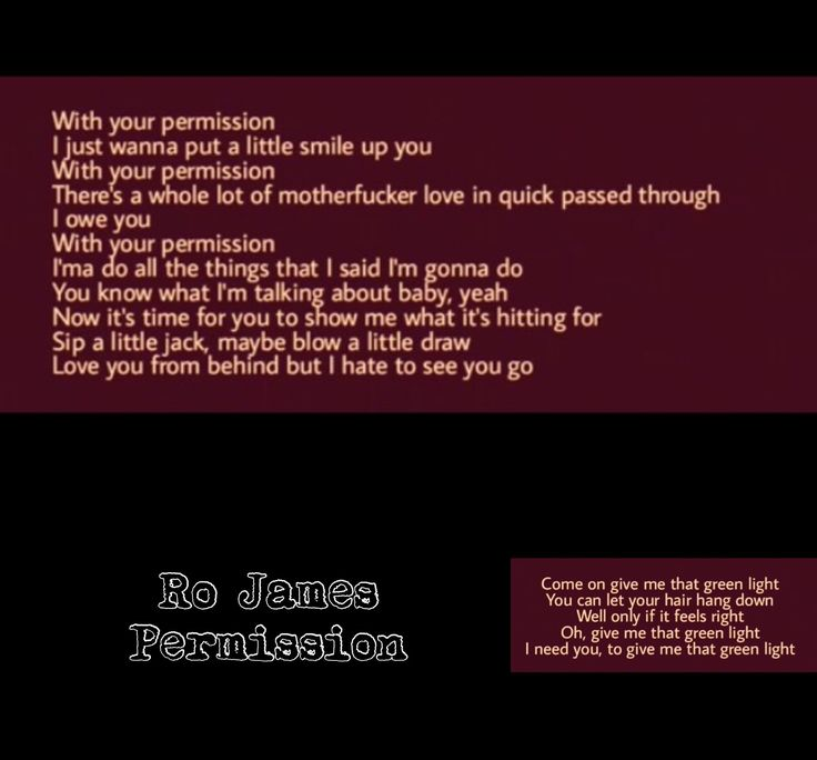 This is such a sexy song.  Ro James-Permission
