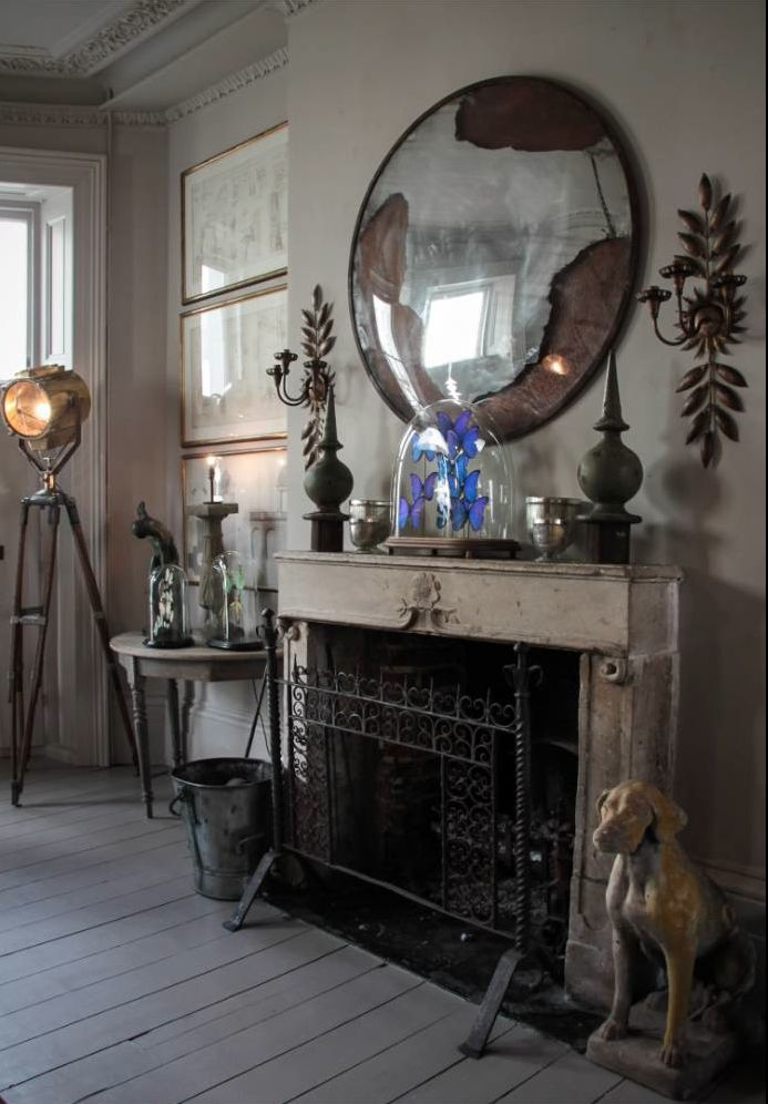 Shabby doesn't have to be frilly. I love this more industrial look.