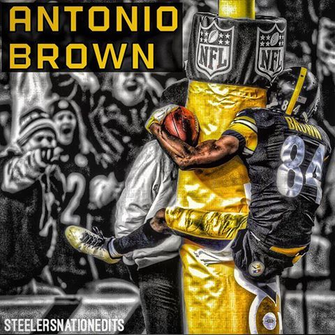 Not only is Antonio Brown an amazing player, but he is definitely one of the funnest to watch. Flatout legend. @antoniobrown84 #steelers #steelernation #antoniobrown #84 #blackandyellow #afc #nfl