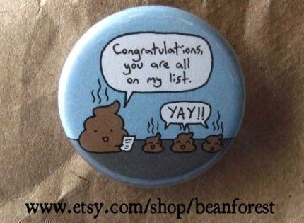 I love funny little pins.  Beanforest is one of my favorite pin makers.  Very clever.