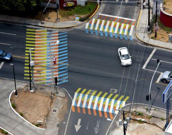 """""""Color Aditivo"""" at Parque recreativo y cultural Omar, Panama City (2013) by Carlos Cruz-Diez"""