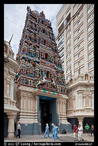 Sri Mahamariamman South Indian Temple. Kuala Lumpur, Malaysia
