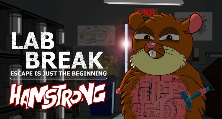 Hamstrong animation series  LAB BREAK: Escape is just the beginning #vivisection #cartoon